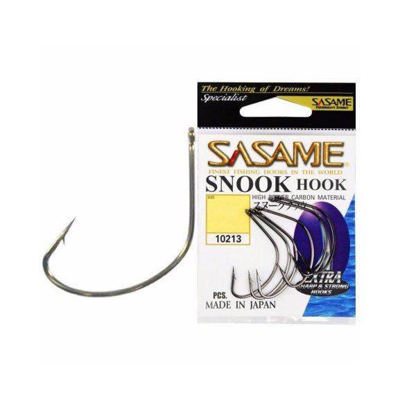 Anzol SASAME Snook Hook (robaleiro) - Black Niquel - Tamanhos