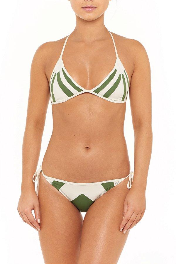 Biquini Hy Brasil HB154 Verde Agreste + Off White