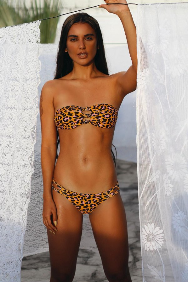 Biquini Hy Brasil HB167 Orange Leopard