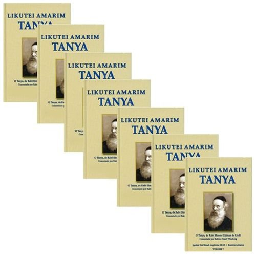 CONJUNTO Likutei Amarim Tanya, volumes 1-7