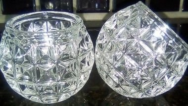Copos de cristal para vela