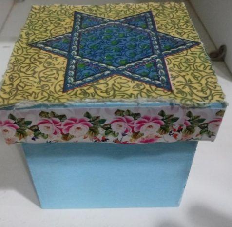 Caixa Porta - Objeto Estrela de Davi - Myrian Butter