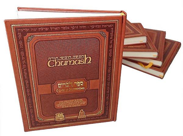 Coleção Chumash Gutnick (5 volumes) Gênesis, Êxodo, Levítico, Numeros e Deuteronômio
