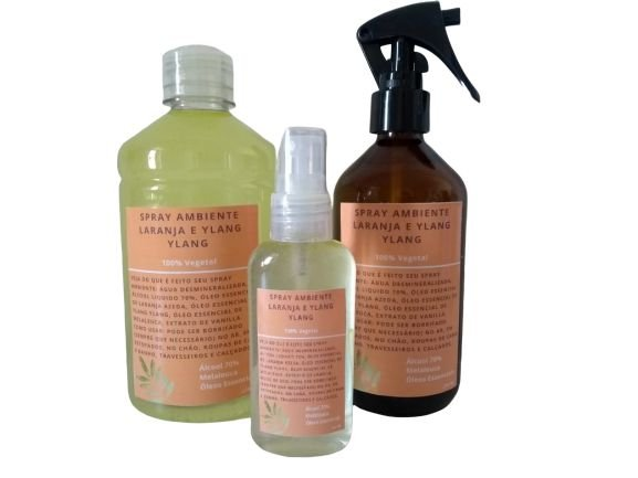 Kit Spray Ambiente Laranja e Ylang Ylang