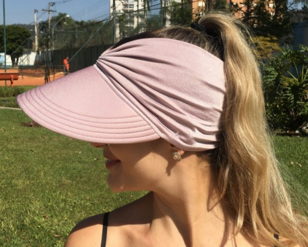 Viseira Turbante UV50+ Premium cor Nude Rosê