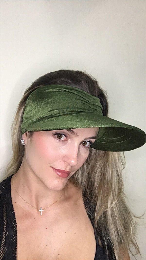 Viseira com Proteção UV50+ Classic cor Verde Militar