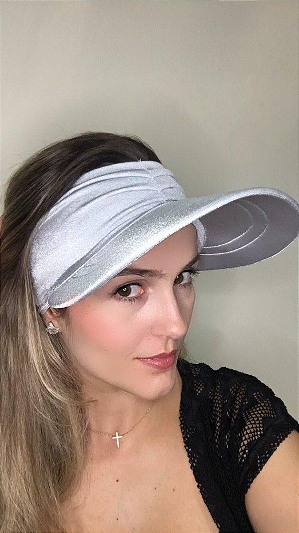 Viseira com Proteção UV50+ Classic cor Prata