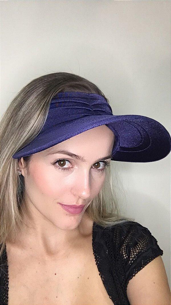 Viseira com Proteção UV50+ Classic cor Azul Marinho