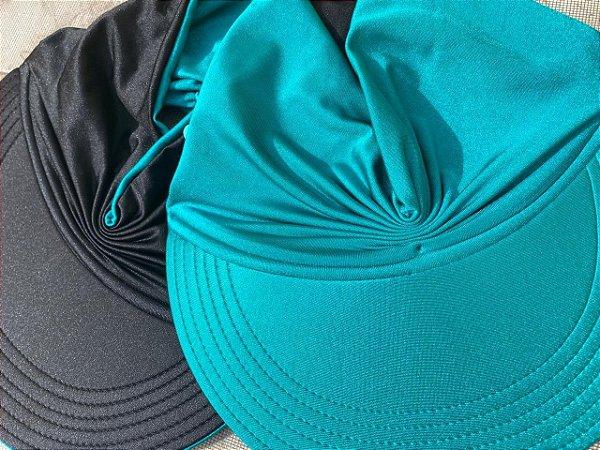 Viseira Turbante UV50+ DUPLA-FACE - Premium cor Verde