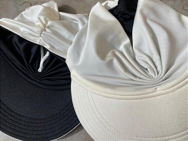 Viseira Turbante UV50+ DUPLA-FACE - Premium cor Off White