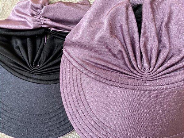 Viseira Turbante UV50+ DUPLA-FACE - Premium cor Lilás