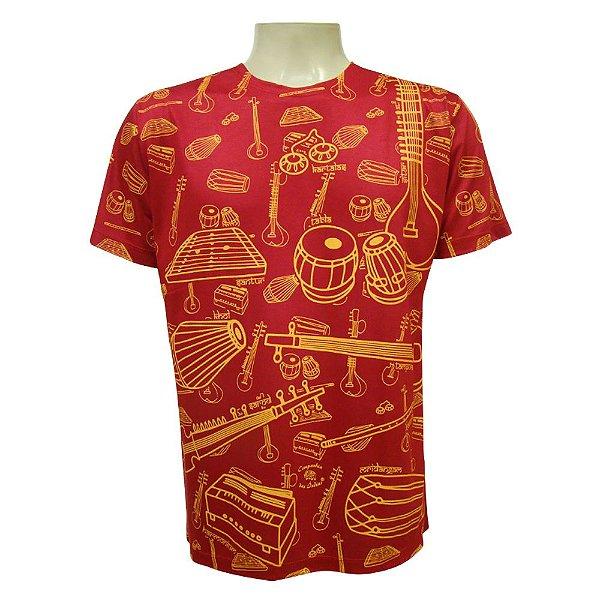 Camiseta Manga Curta - Instrumentos Indianos