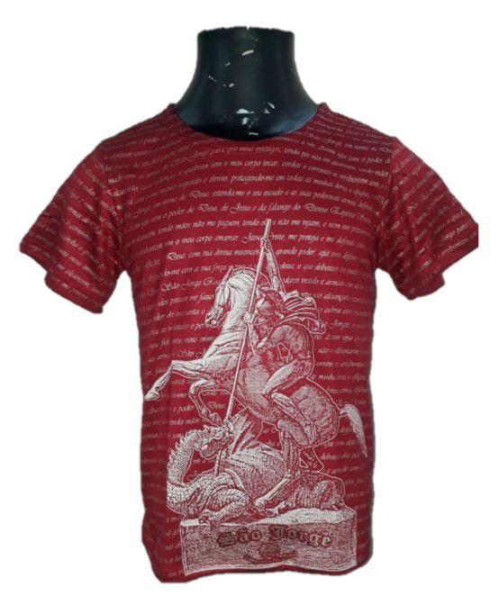 Camiseta Infantil São Jorge- Dorê