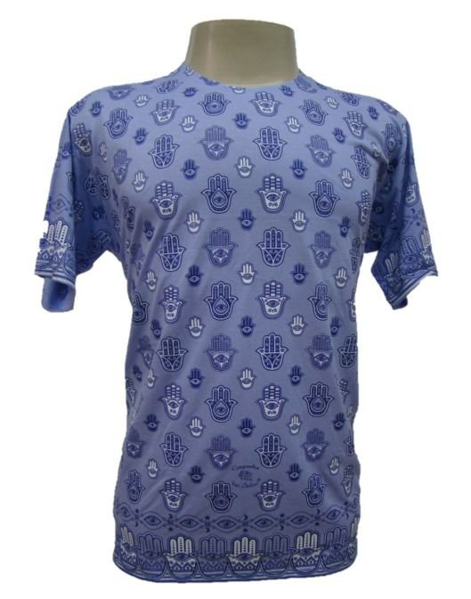 Camiseta Manga Curta - Padrão de Fátima