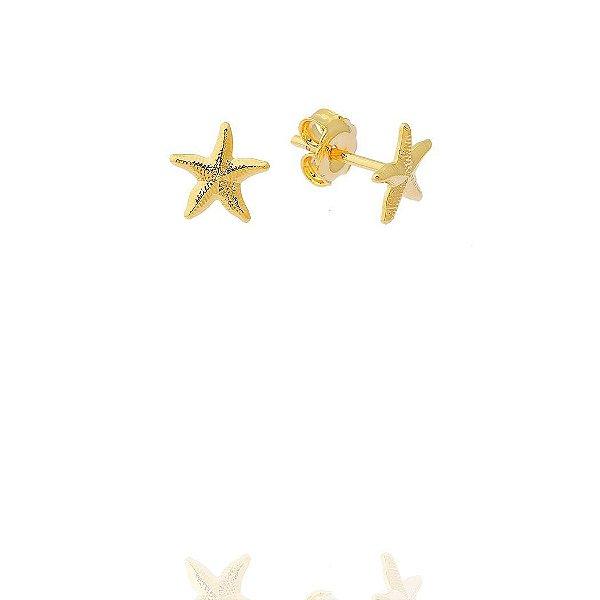 Brinco de Estrela do Mar Folheado
