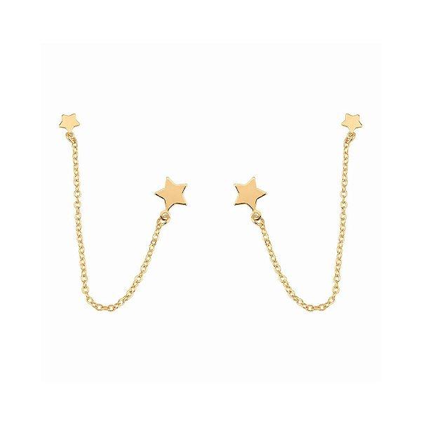Brinco Ear Line Estrelas