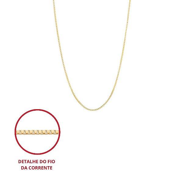 Corrente veneziana folheada a ouro 18k