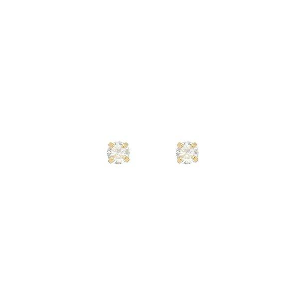 Brinco Ponto de Luz Zircônia Pequeno Folheado a Ouro 18K