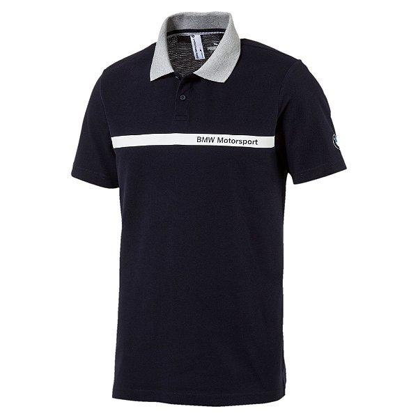 Camisa Polo Puma BMW Msp Summer Azul Marinho