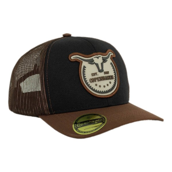 Boné Copenhagen LongHorn Black Brown