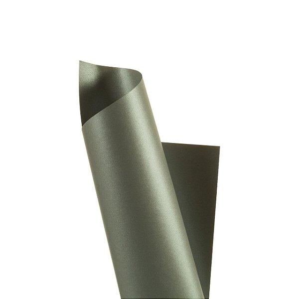 Papel Prata Perolizado em ambas as faces 180g/m² - Formato A4 com 25 folhas