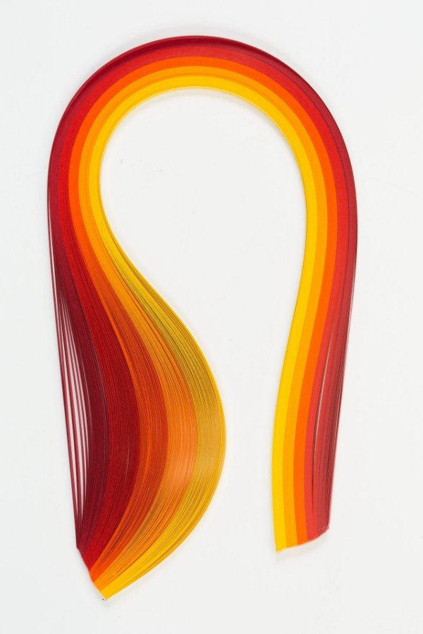 Quilling Degradê Amarelo / Vermelho