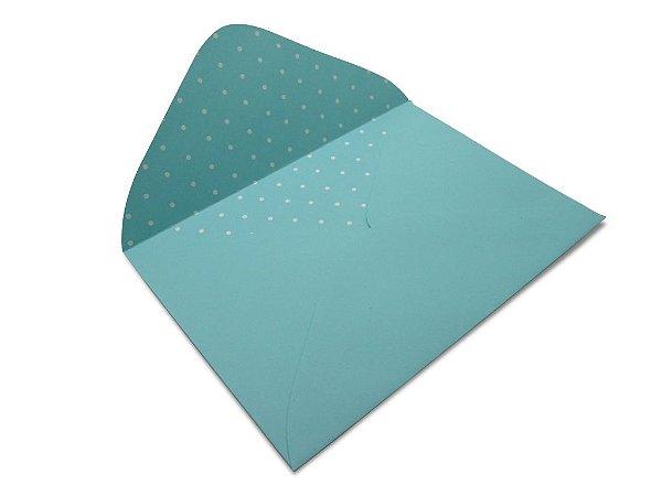 Envelopes 114 x 162 mm - Aruba Decor Bolinhas Branco - Lado Interno
