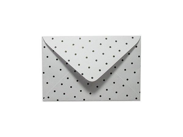 Envelopes 72 x 108 mm - Branco Decor Bolinhas Pretas - Lado Externo