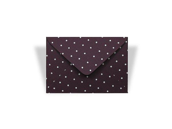 Envelopes 72 x 108 mm - Mendoza Decor Bolinhas Brancas - Lado Externa
