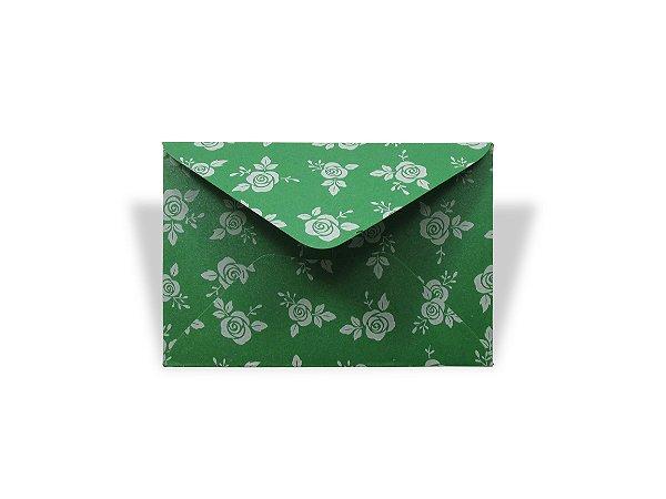 Envelopes 72 x 108 mm - Relux Amazonita Rosas Brancas - Lado Externo