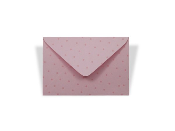 Envelopes 72 x 108 mm - Rosa Verona Decor Bolinhas Incolor - Lado Externo