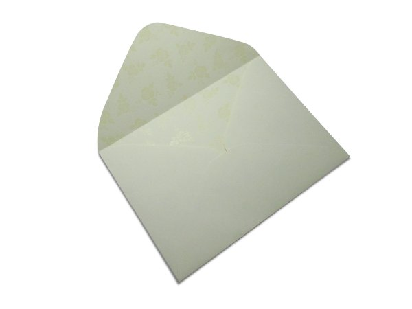 Envelopes 114 x 162 mm - Creme Decor Rosas Incolor - Lado Interno