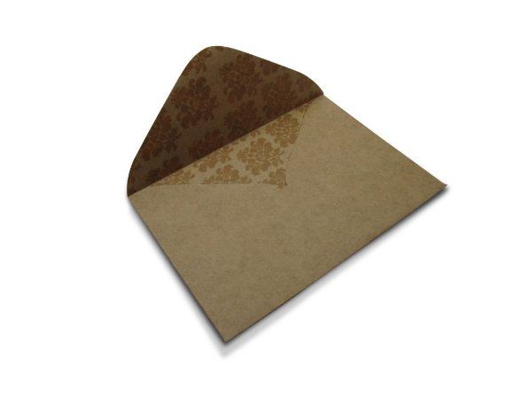 Envelopes 114 x 162 mm - Kraft Decor Arabesco Incolor - Lado Interno