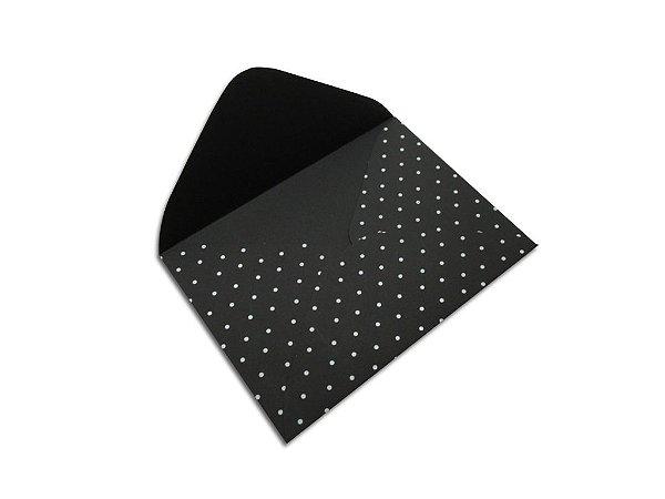 Envelopes 114 x 162 mm - Los Angeles Decor Bolinhas Branco - Lado Externo