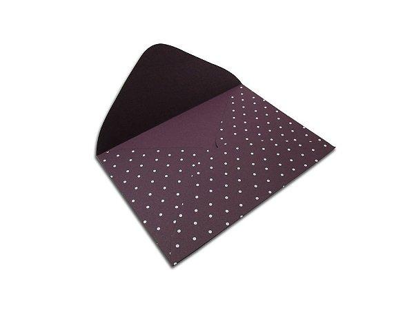 Envelopes 114 x 162 mm - Mendoza Decor Bolinhas Branco - Lado Externo