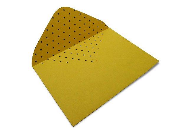 Envelopes 114 x 162 mm - Rio de Janeiro Decor Bolinhas Preto - Lado Interno