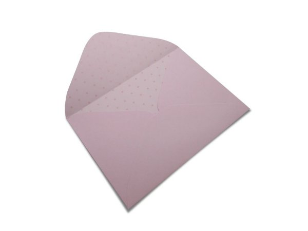 Envelopes 114 x 162 mm - Rosa Verona Decor Bolinhas Incolor - Lado Interno