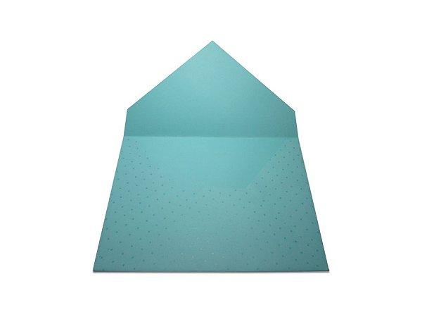 Envelopes 165 x 225 mm - Aruba Decor Bolinhas Incolor - Lado Externo