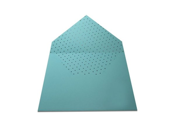 Envelopes 165 x 225 mm - Aruba Decor Bolinhas Pretas - Lado Interno