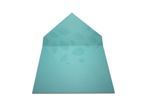 Envelopes 165 x 225 mm - Aruba Decor Folhas Incolor - Lado Interno