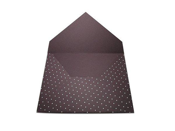 Envelopes 165 x 225 mm - Mendoza Decor Bolinhas Brancas - Lado Externo