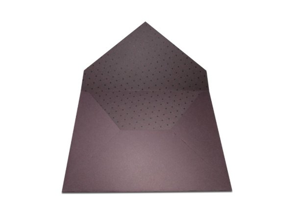 Envelopes 165 x 225 mm - Mendoza Decor Bolinhas Pretas - Lado Interno
