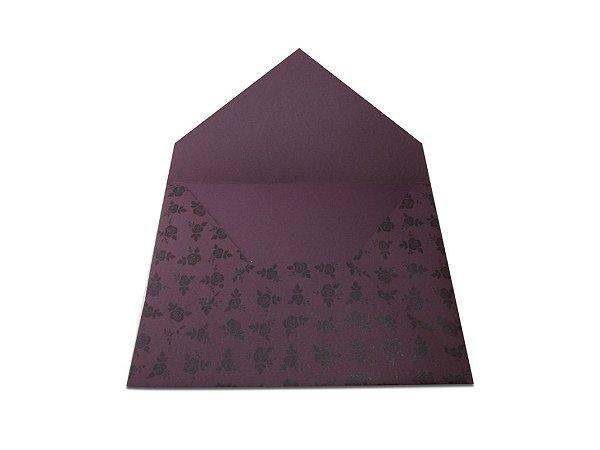 Envelopes 165 x 225 mm - Mendoza Decor Rosas Pretas - Lado Externo