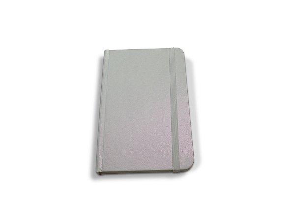 Caderneta Tipo Moleskine - Geltex Rosa Pearl