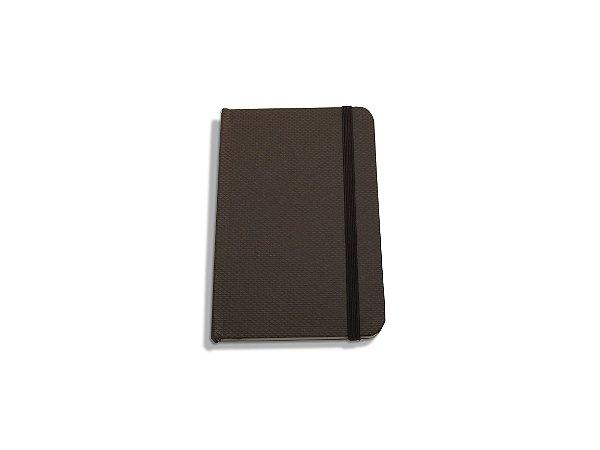 Caderneta Tipo Moleskine - Geltex Marrom
