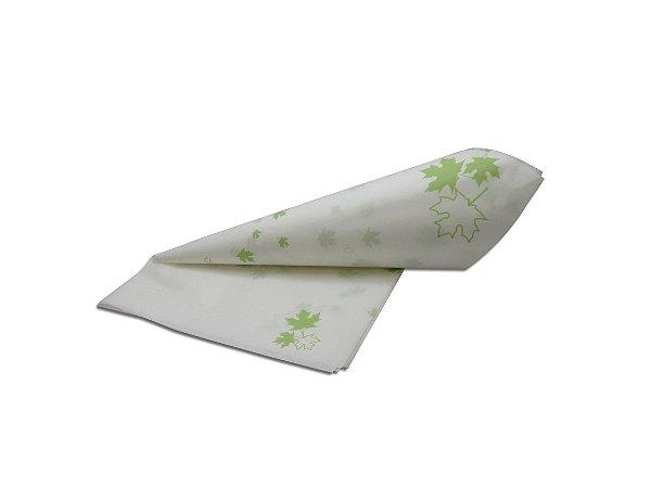 Papel de SEDA Folhas Verde Claro para Presente
