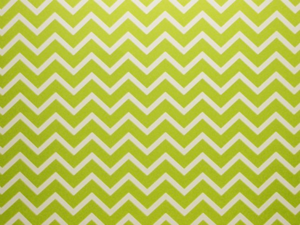 Decor Chevron Green - Branco