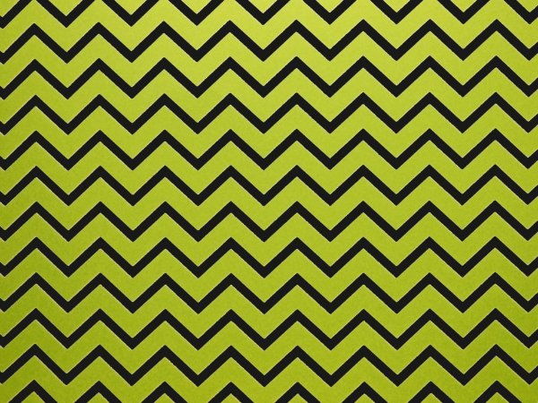 Decor Chevron Green - Preto
