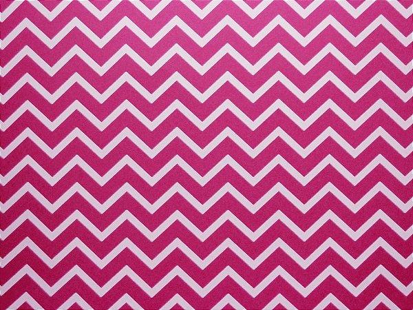 Decor Chevron Pink - Branco