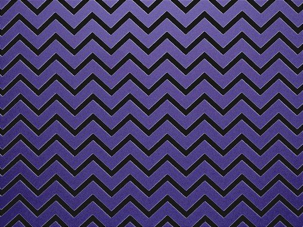 Decor Chevron Violet - Preto